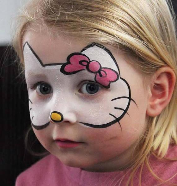 maquillaje fiesta infantil hello kitty